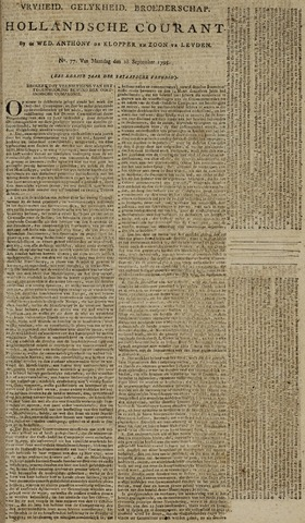 Leydse Courant 1795-09-28
