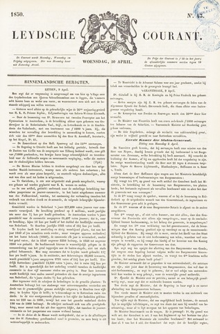 Leydse Courant 1850-04-10