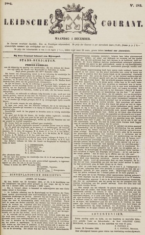 Leydse Courant 1884-12-01