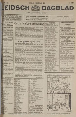 Leidsch Dagblad 1933-02-03