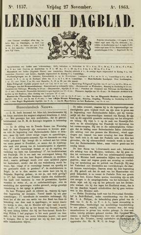 Leidsch Dagblad 1863-11-27