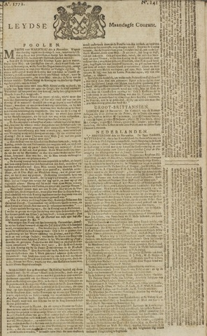 Leydse Courant 1771-11-25