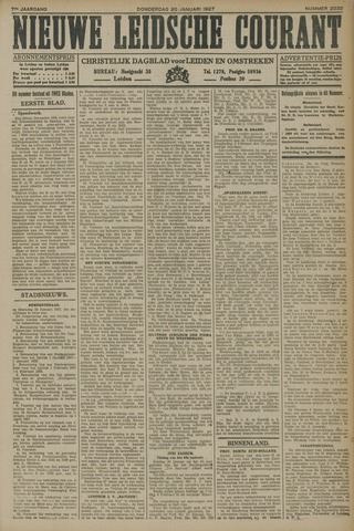 Nieuwe Leidsche Courant 1927-01-20
