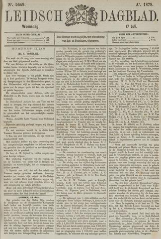 Leidsch Dagblad 1878-07-17