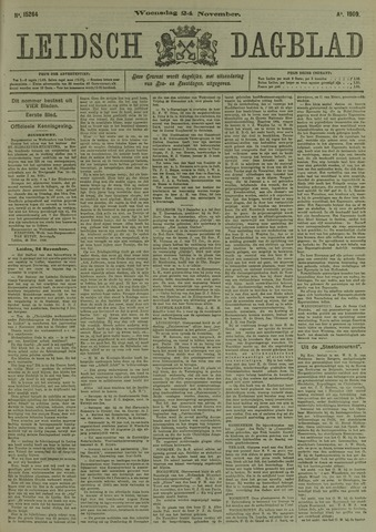Leidsch Dagblad 1909-11-24
