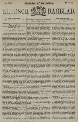 Leidsch Dagblad 1882-11-27