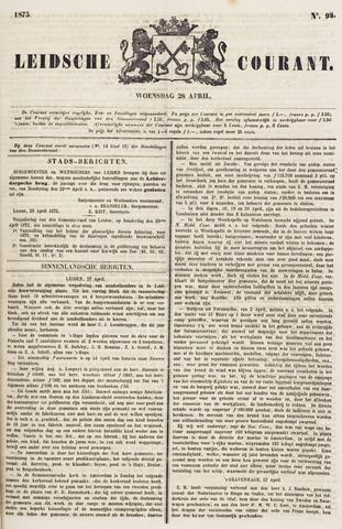 Leydse Courant 1875-04-28