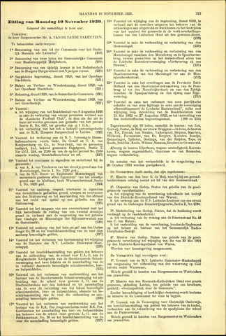 Handelingen van de Raad 1930-11-10