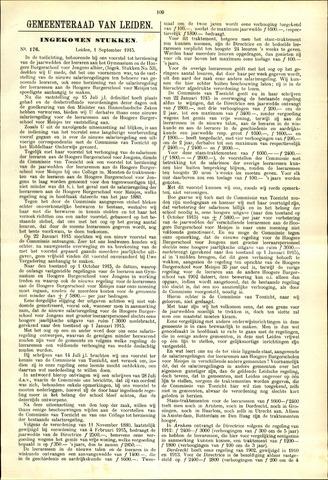 Handelingen van de Raad 1915-09-01