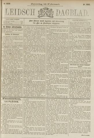 Leidsch Dagblad 1892-02-13