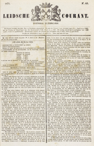 Leydse Courant 1871-02-22