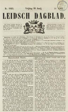 Leidsch Dagblad 1863-06-26