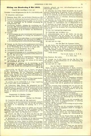 Handelingen van de Raad 1912-05-02