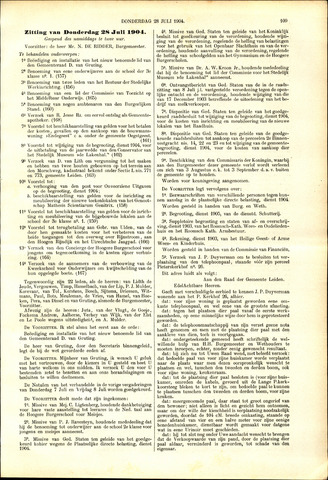 Handelingen van de Raad 1904-07-28