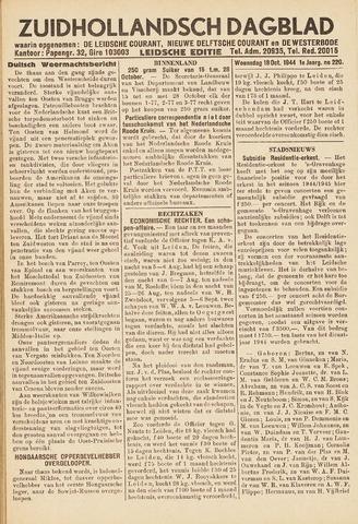 Zuidhollandsch Dagblad 1944-10-18