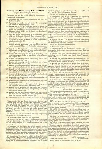 Handelingen van de Raad 1905-03-02