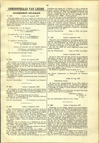 Handelingen van de Raad 1907-08-30
