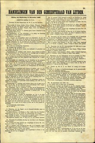 Handelingen van de Raad 1868-12-17