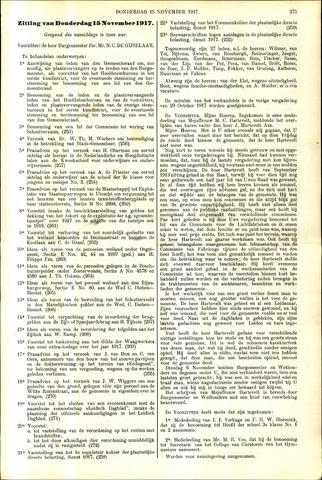 Handelingen van de Raad 1917-11-15