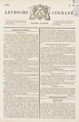Leydse Courant 1852-03-22