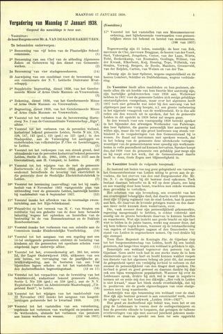 Handelingen van de Raad 1938-01-17