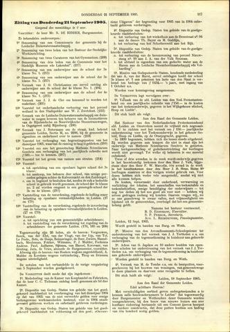 Handelingen van de Raad 1905-09-21