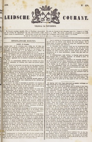 Leydse Courant 1876-11-24