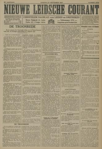 Nieuwe Leidsche Courant 1927-09-20