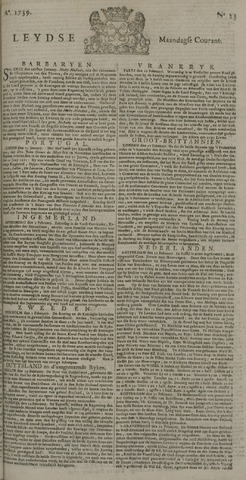 Leydse Courant 1739-02-23