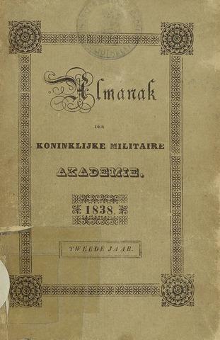 Almanak der Koninklijke Militaire Akademie 1838