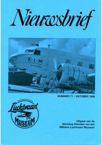 Nieuwsbrief Militaire Luchtvaart Museum 1999-10-01