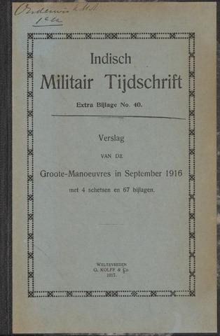 Indische Militair Tijdschrift - Extra Bijlagen 1917