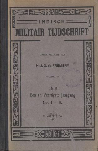 Indisch Militair Tijdschrift 1910-01-01