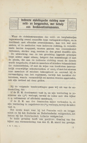 Indisch Militair Tijdschrift 1914-01-01