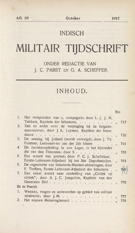 Indisch Militair Tijdschrift 1917-10-01
