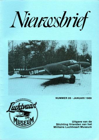 Nieuwsbrief Militaire Luchtvaart Museum 1989