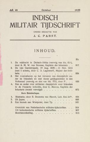 Indisch Militair Tijdschrift 1920-10-01