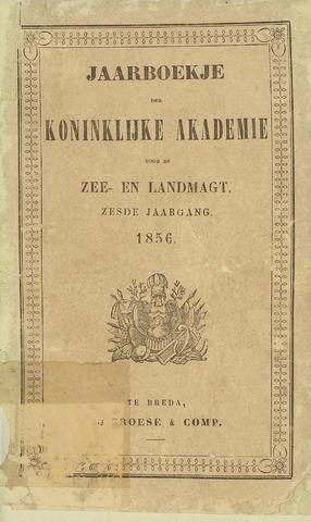 Almanak der Koninklijke Militaire Akademie 1856