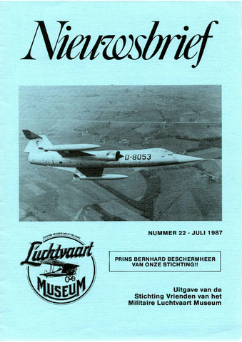 Nieuwsbrief Militaire Luchtvaart Museum 1987-07-01