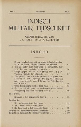 Indisch Militair Tijdschrift 1918-02-01