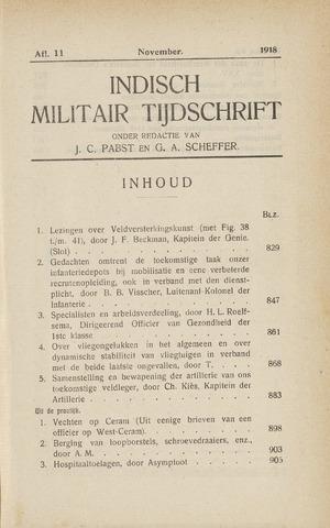 Indisch Militair Tijdschrift 1918-11-01