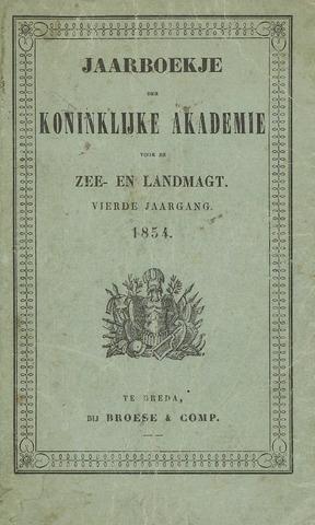 Almanak der Koninklijke Militaire Akademie 1854-01-01