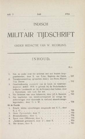 Indisch Militair Tijdschrift 1916-07-01