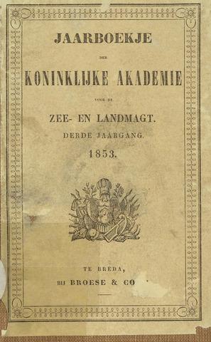 Almanak der Koninklijke Militaire Akademie 1853-01-01