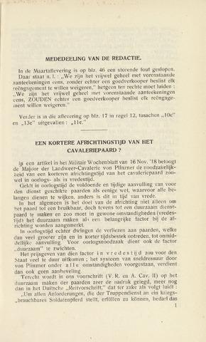 Indisch Militair Tijdschrift 1921-04-01