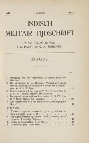 Indisch Militair Tijdschrift 1918