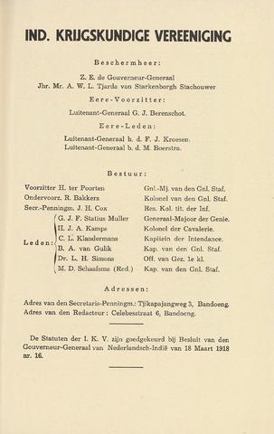 Indisch Militair Tijdschrift 1941-04-01