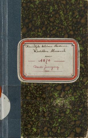 Almanak der Koninklijke Militaire Akademie 1870-01-01