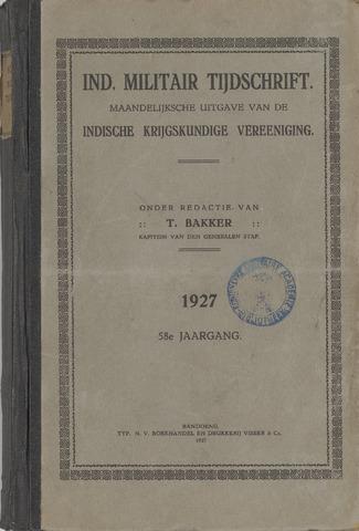 Indisch Militair Tijdschrift 1927