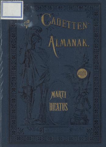 Almanak der Koninklijke Militaire Akademie 1909-01-01